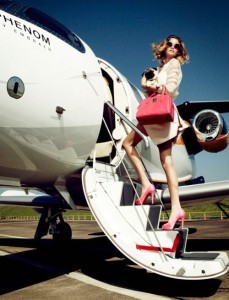 Jet setting woman