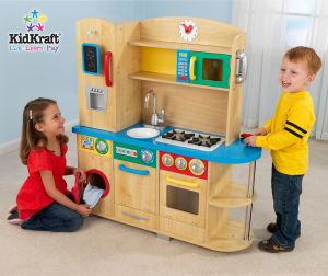 Kids playing kitchen