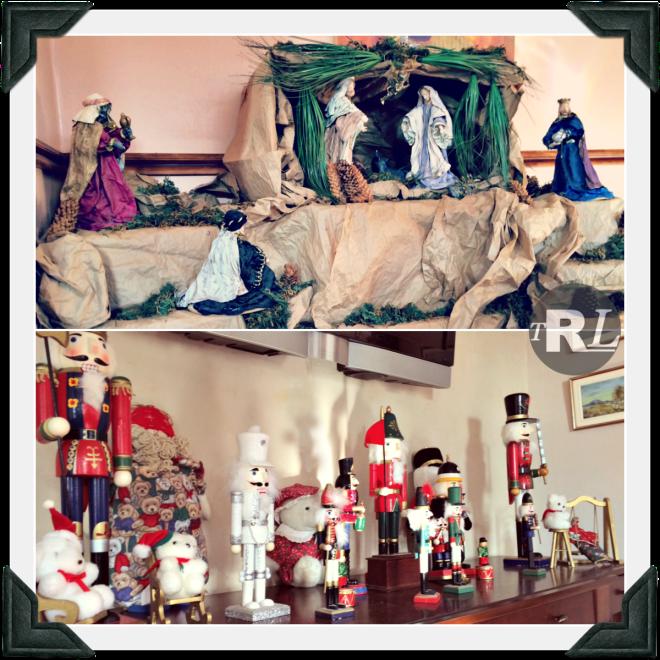 Nativity Scene and Nutcrackers