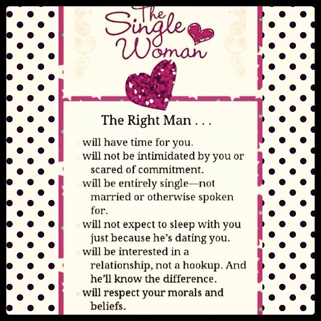 The Right Man - The Single Woman