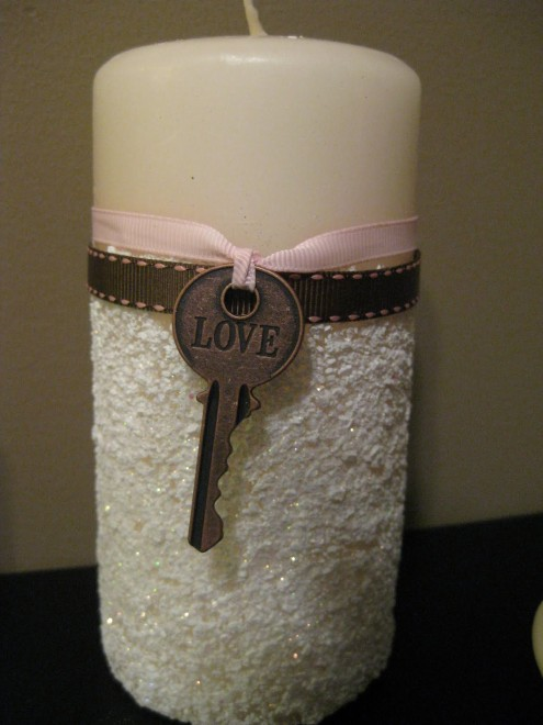 Love Candle With Key