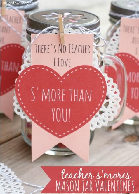 Smores Jar Valentines