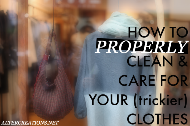 How to clean and care for your cothes