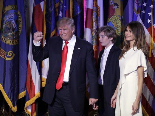 Trump Acceptance Speech - Barron & Milania