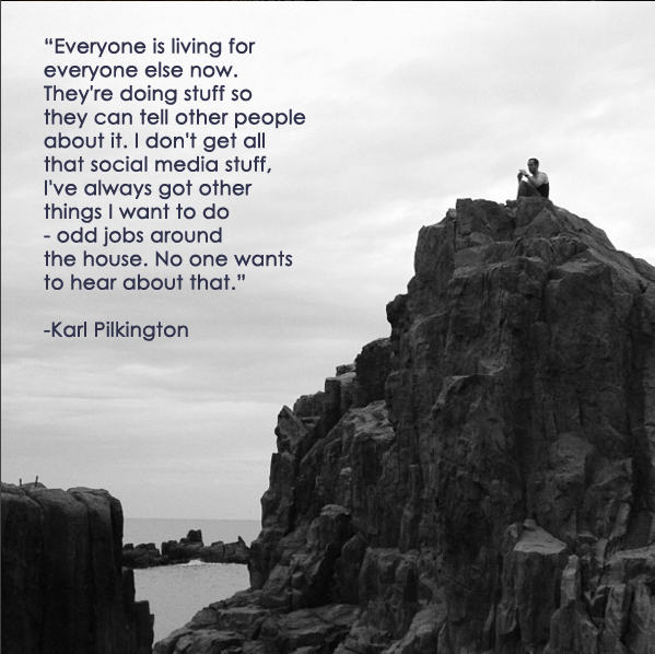 """""""Everyone is living for everyone else now..."""""""