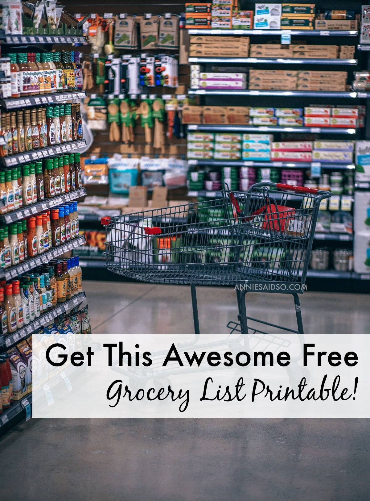 Get This Free Printable Grocery List!
