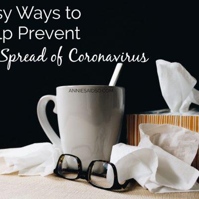 Easy Ways to Help Prevent the Spread of Coronavirus