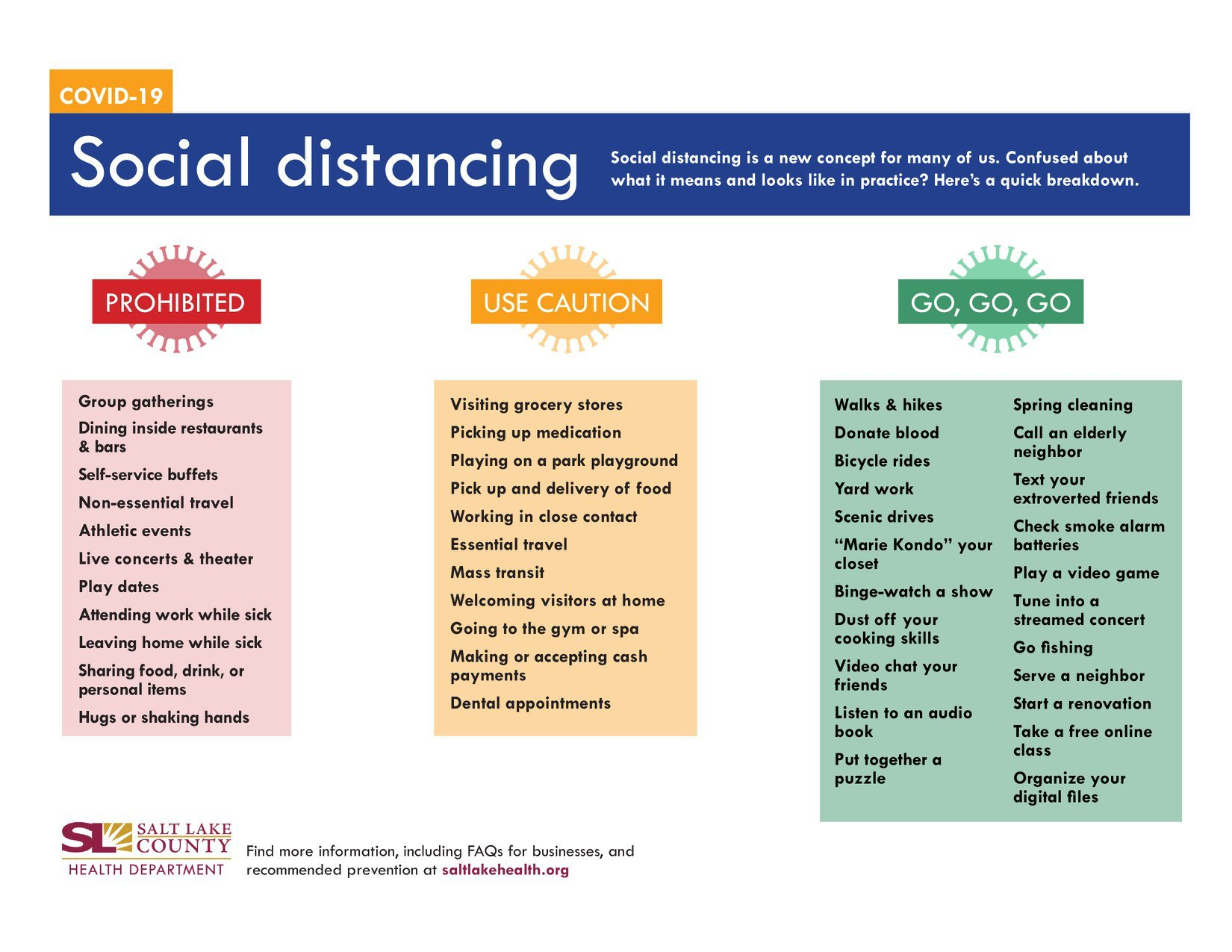 Social distancing activities and ideas: Which are OK and which are prohibited?