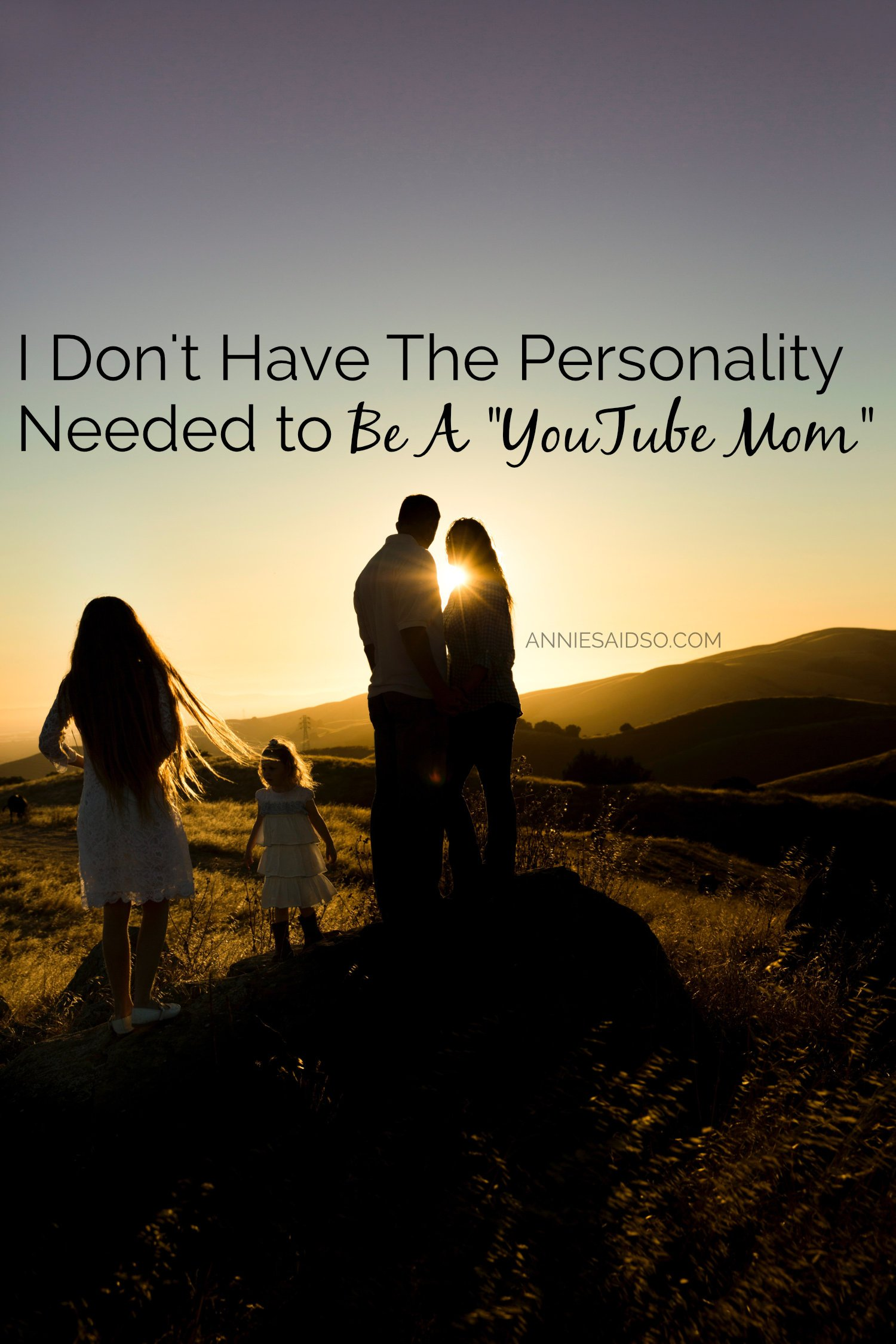 "I Don't Have The Personality Needed to Be A ""YouTube Mom"""